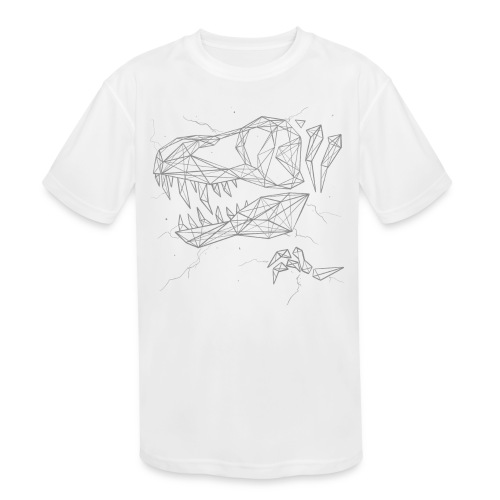 Jurassic Polygons by Beanie Draws - Kids' Moisture Wicking Performance T-Shirt