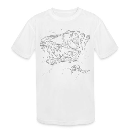 Jurassic Polygons by Beanie Draws - Kids' Moisture Wicking Performance T-Shirt