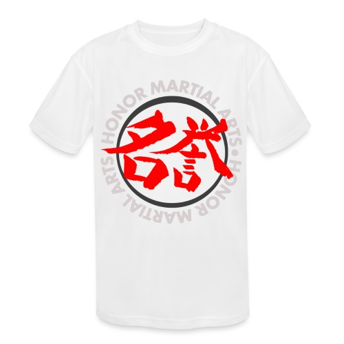 Honor Martial Arts Kanji Design Light Shirts - Kids' Moisture Wicking Performance T-Shirt