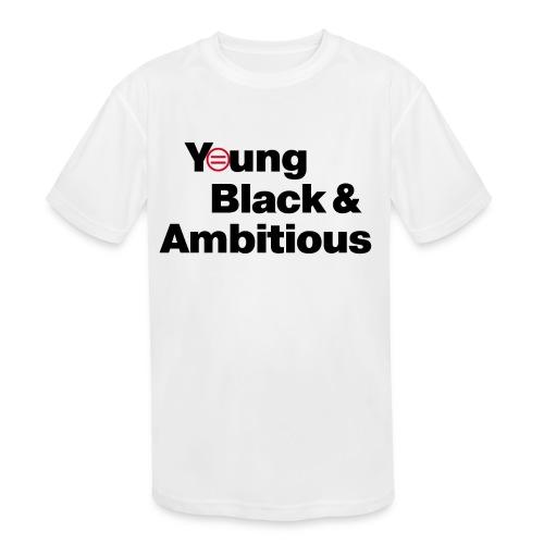 YBA white and gray shirt - Kids' Moisture Wicking Performance T-Shirt