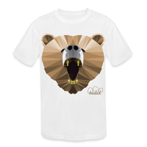 Hungry Bear Women's V-Neck T-Shirt - Kids' Moisture Wicking Performance T-Shirt