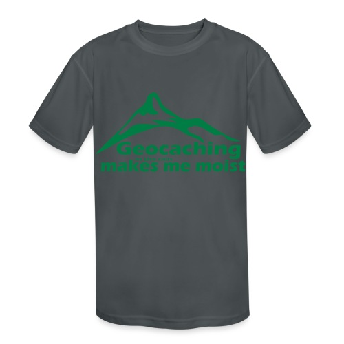 Geocaching in the Rain - Kids' Moisture Wicking Performance T-Shirt