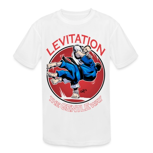 Judo Levitation for dark shirt - Kids' Moisture Wicking Performance T-Shirt