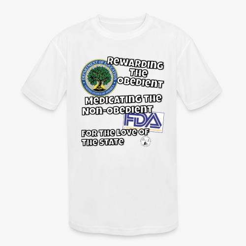 US Dept. of Education - Rewarding the Obedient... - Kids' Moisture Wicking Performance T-Shirt