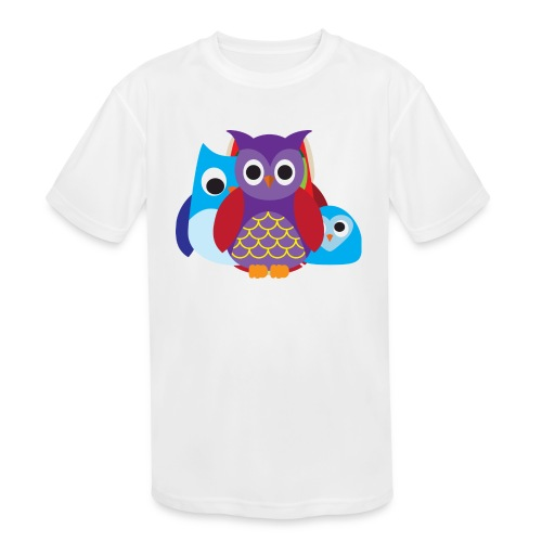 Cute Owls Eyes - Kids' Moisture Wicking Performance T-Shirt