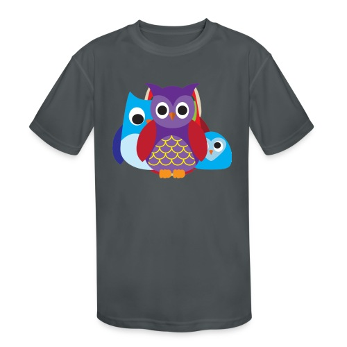 Cute Owls Eyes - Kids' Moisture Wicking Performance T-Shirt
