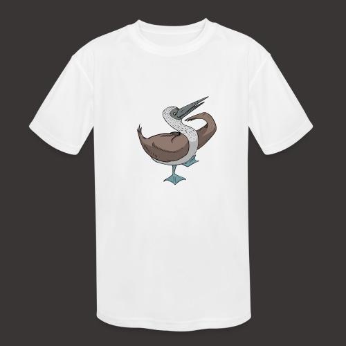 Boobie Bird Mating dance - Kids' Moisture Wicking Performance T-Shirt