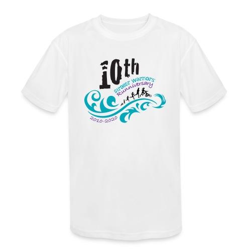 10th Anniversary Logo Color - Kids' Moisture Wicking Performance T-Shirt
