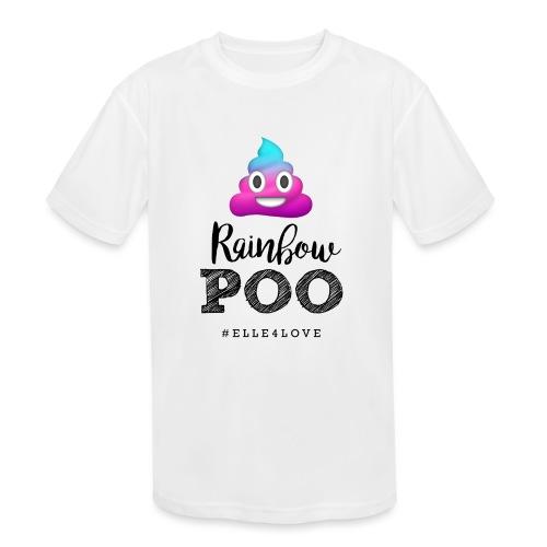Rainbow Poo - Kids' Moisture Wicking Performance T-Shirt