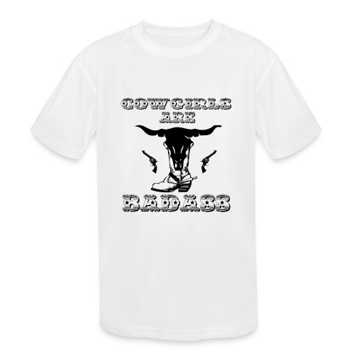 COWGIRLS ARE BADASS - Kids' Moisture Wicking Performance T-Shirt