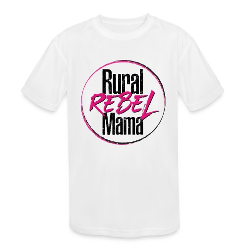 Rural Rebel Mama Logo - Kids' Moisture Wicking Performance T-Shirt