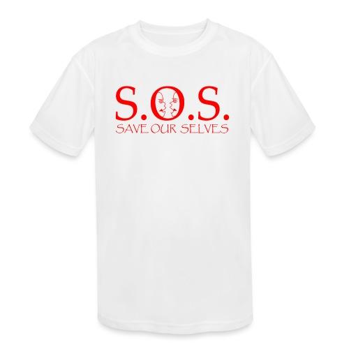 sos red - Kids' Moisture Wicking Performance T-Shirt