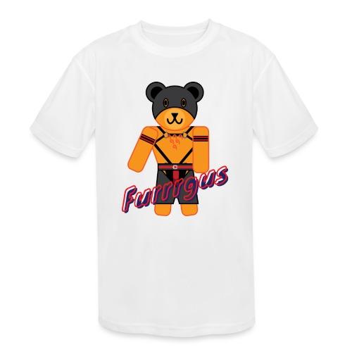 Leather Furrrgus - Kids' Moisture Wicking Performance T-Shirt