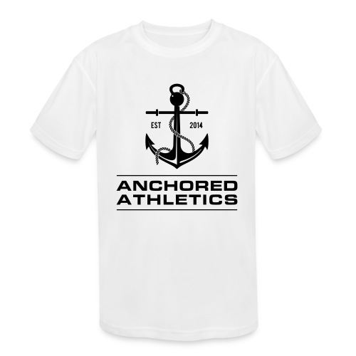 Anchored Athletics Vertical Black - Kids' Moisture Wicking Performance T-Shirt