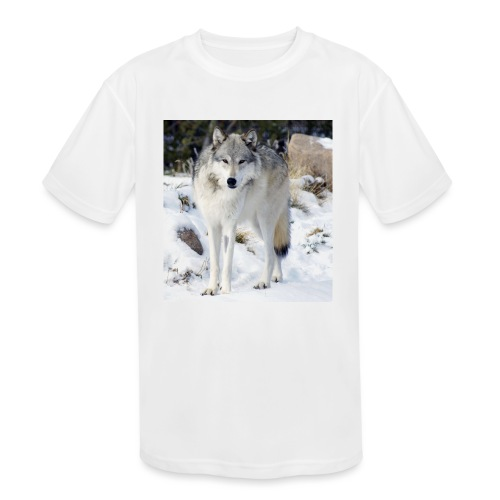 Canis lupus occidentalis - Kids' Moisture Wicking Performance T-Shirt