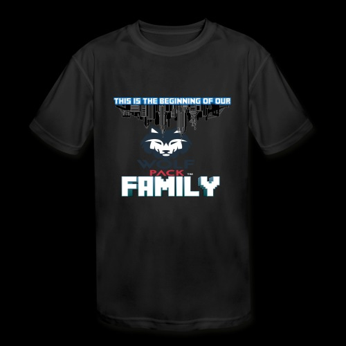 We Are Linked As One Big WolfPack Family - Kids' Moisture Wicking Performance T-Shirt