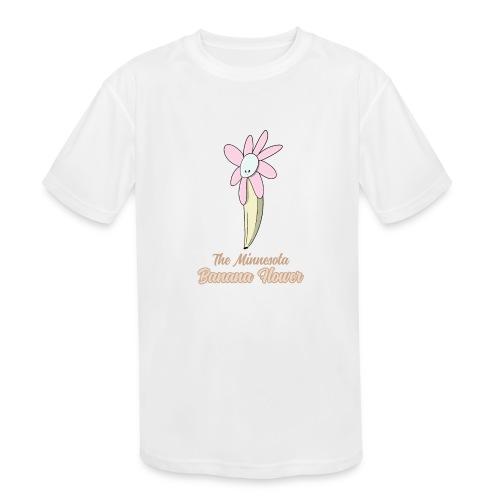 The Minnesota Banana Flower - Kids' Moisture Wicking Performance T-Shirt