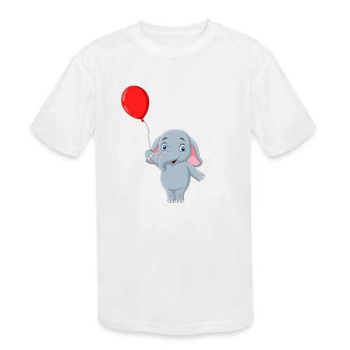 Baby Elephant Holding A Balloon - Kids' Moisture Wicking Performance T-Shirt