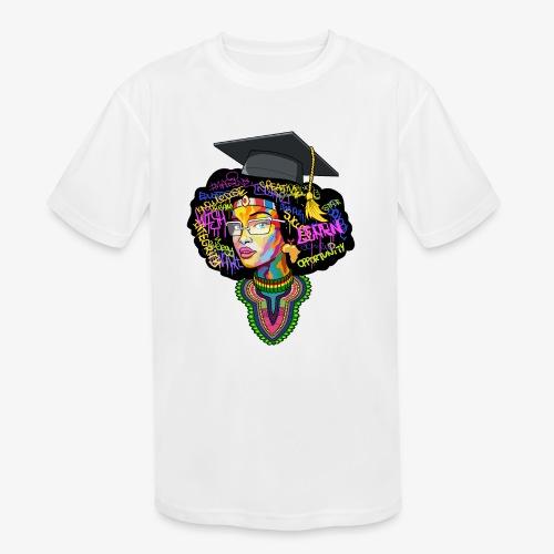 Smart Black Woman - Kids' Moisture Wicking Performance T-Shirt