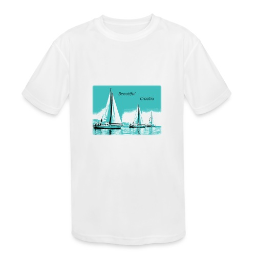 Beautiful Croatia - Kids' Moisture Wicking Performance T-Shirt
