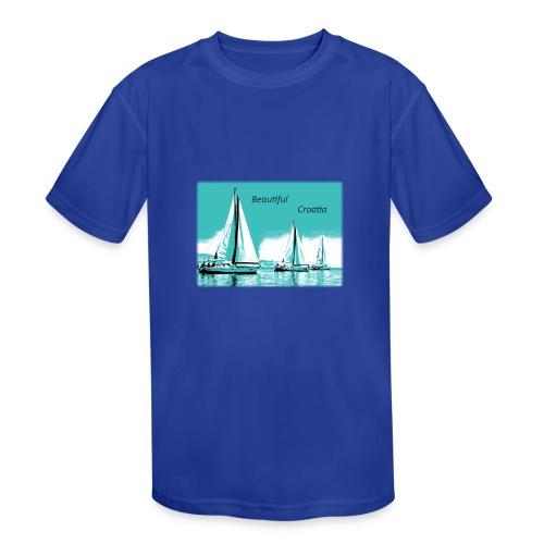 Beautiful Croatia - Kids' Moisture Wicking Performance T-Shirt