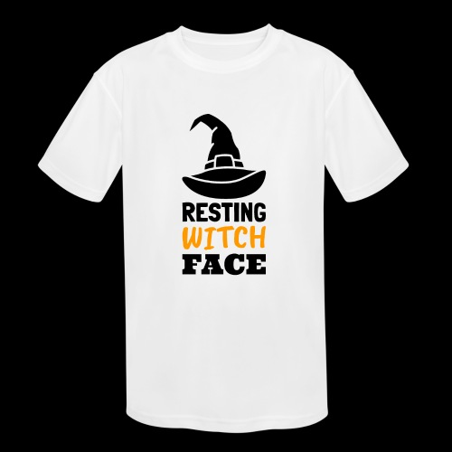 Resting Witch Face | Funny Halloween - Kids' Moisture Wicking Performance T-Shirt