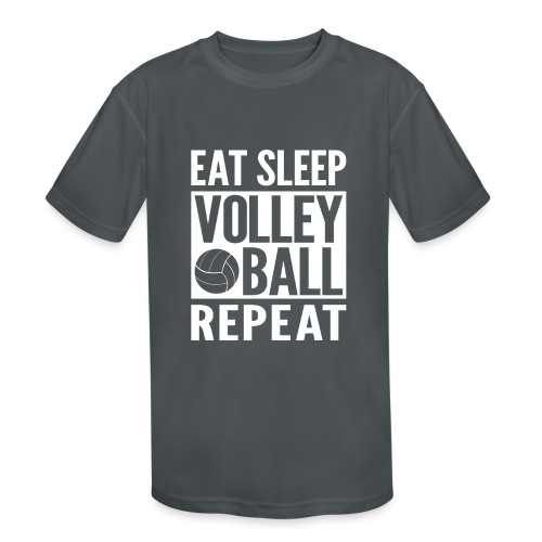 Eat Sleep Volleyball Repeat - Kids' Moisture Wicking Performance T-Shirt