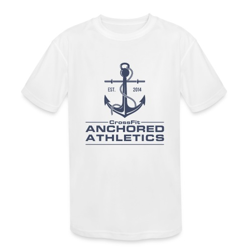 CrossFit Anchored Athletics Vertical Blue - Kids' Moisture Wicking Performance T-Shirt
