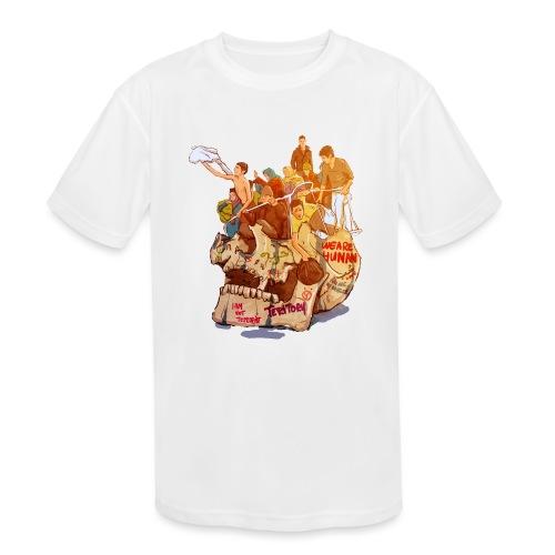 Skull & Refugees - Kids' Moisture Wicking Performance T-Shirt