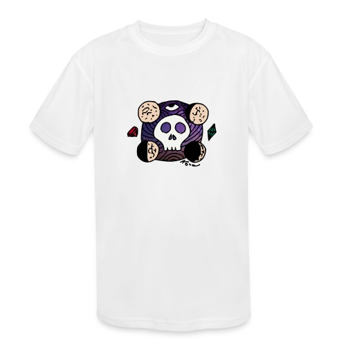 Moon Skull from Outer Space - Kids' Moisture Wicking Performance T-Shirt