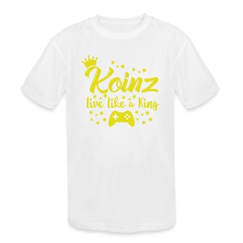 Live Like A King - Kids' Moisture Wicking Performance T-Shirt