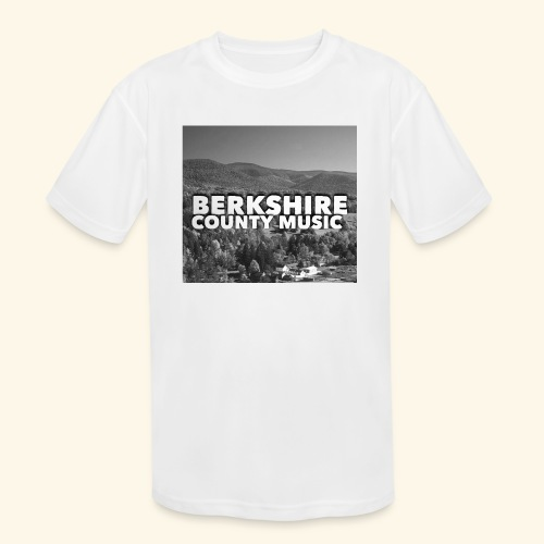Berkshire County Music Black/White - Kids' Moisture Wicking Performance T-Shirt