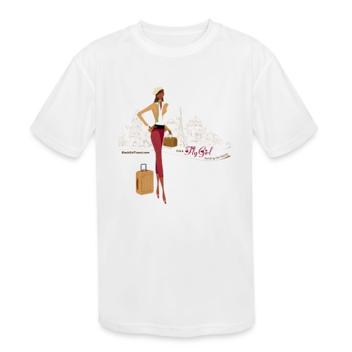BrowOutfitPNG png - Kids' Moisture Wicking Performance T-Shirt