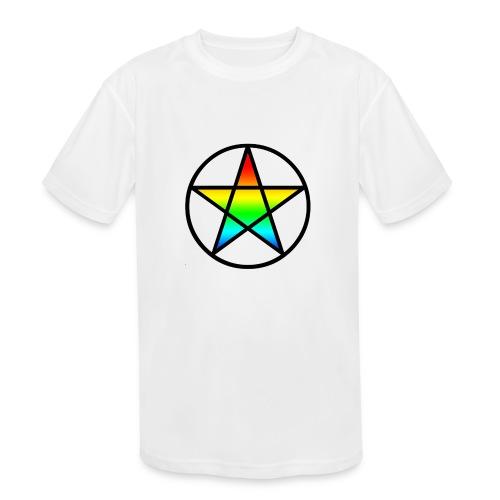 Official Iridescent Tee-Shirt // Men's // White - Kids' Moisture Wicking Performance T-Shirt