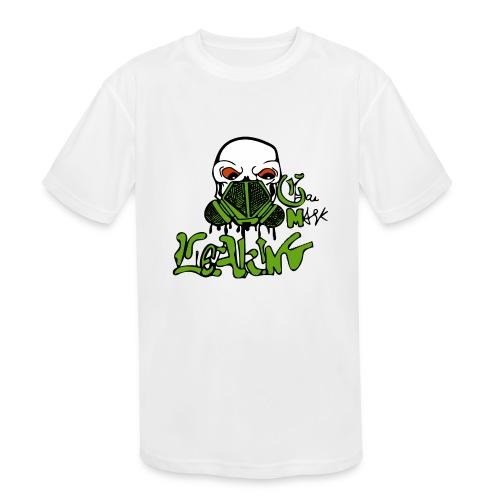 Leaking Gas Mask - Kids' Moisture Wicking Performance T-Shirt