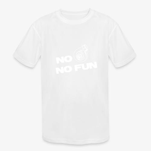 No turbo no fun - Kids' Moisture Wicking Performance T-Shirt