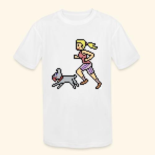 RunWithPixel - Kids' Moisture Wicking Performance T-Shirt