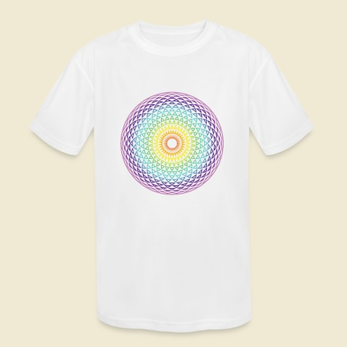 Torus Yantra Hypnotic Eye rainbow - Kids' Moisture Wicking Performance T-Shirt