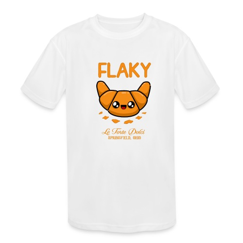 Flaky Croissant - Kids' Moisture Wicking Performance T-Shirt