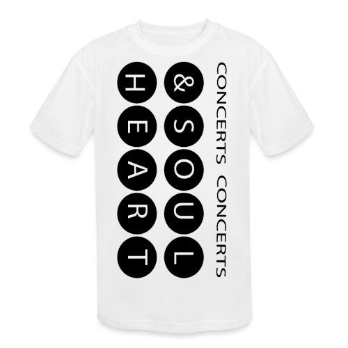 Heart & Soul concerts text design 2021 flip - Kids' Moisture Wicking Performance T-Shirt