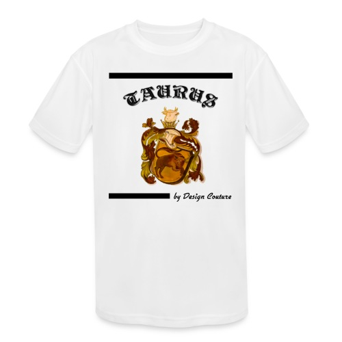 TAURUS BLACK - Kids' Moisture Wicking Performance T-Shirt