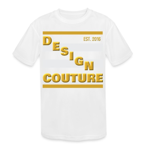 DESIGN COUTURE EST 2016 GOLD - Kids' Moisture Wicking Performance T-Shirt