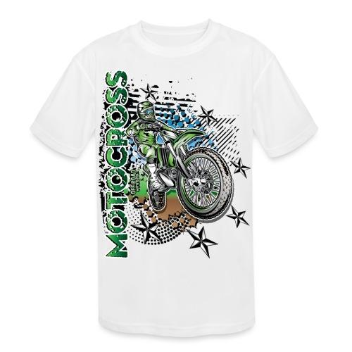 Kawasaki Dirt Bike Shirt - Kids' Moisture Wicking Performance T-Shirt