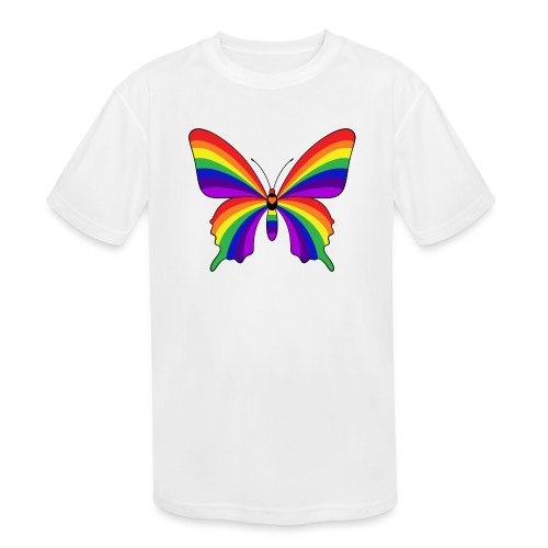 Rainbow Butterfly - Kids' Moisture Wicking Performance T-Shirt