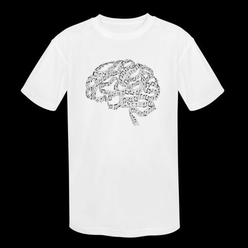 Sound of Mind | Audiophile's Brain - Kids' Moisture Wicking Performance T-Shirt