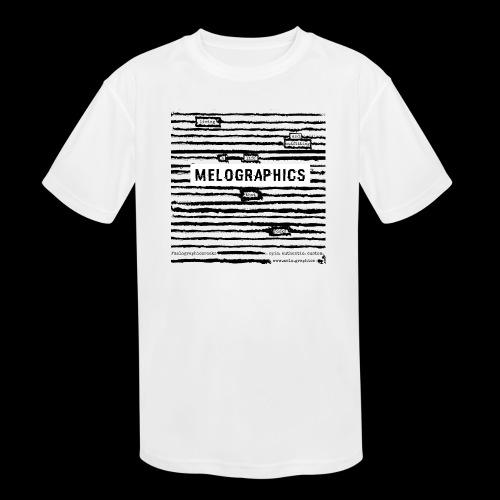 MELOGRAPHICS | Blackout Poem - Kids' Moisture Wicking Performance T-Shirt