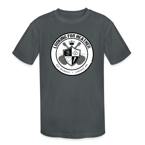 Looking For Heather - Crest Logo - Kids' Moisture Wicking Performance T-Shirt