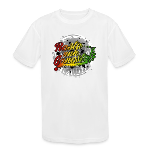 Rasta nuh Gangsta - Kids' Moisture Wicking Performance T-Shirt