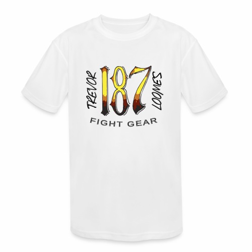 Coloured Trevor Loomes 187 Fight Gear Logo - Kids' Moisture Wicking Performance T-Shirt