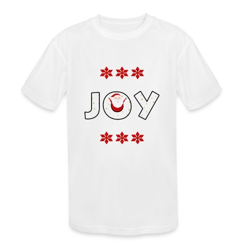 Christmas JOY Santa Clause Ugly Style - Kids' Moisture Wicking Performance T-Shirt
